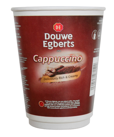 12oz paper incup - Douwe Egberts Cappuccino