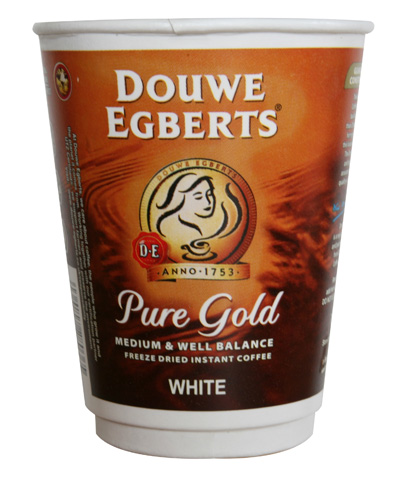 12oz paper incup - Douwe Egberts Pure Gold Coffee